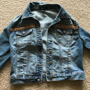 Forever 21 Cropped Jean Jacket